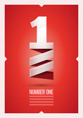 Number One — Stock Vector