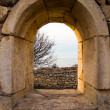 Window in Chersonesos ruins — Stock Photo