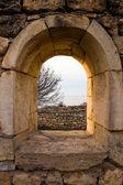 Window in Chersonesos ruins — Stock Photo