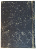 Old grey textile cover of hand-written book — Stock Photo