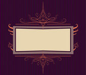 Royal purple Ornate turn of the century frame — Stock Vector