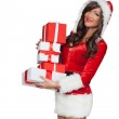Christmas woman holding gifts — Stock Photo #48455195