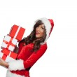 Christmas woman holding gifts — Stock Photo #48455193