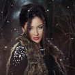 Woman in wintertime outdoor — Stock Photo #48455487