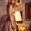 Sensual lady in classical interior — Stock Photo #48455987