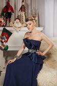 Fashion christmas woman — Stock Photo