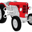 Royalty-Free Stock Photo: Red tractor