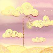 Fairy lamp, fantasy landscape — Stock Photo