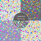 Set of vector polka dots background — Stock Vector
