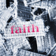 Faith word - Stock Photo