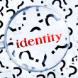 Identity word — Stock Photo