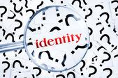 Identity word — Stock Photo