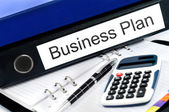 Business plan folder — Stock Photo