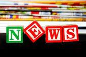 News word — Stock Photo