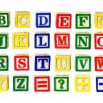 Letras de juguete — Foto de Stock