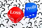 Loss or Profit word — Stock Photo