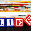 Stock Photo: Lies word