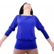 Isolated casual woman — Stock Photo
