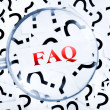 FAQ word — Stock Photo
