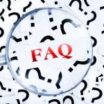 FAQ word — Stock Photo