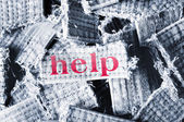 Help word — Stock Photo