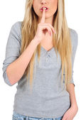 Isolated casual girl — Stock Photo