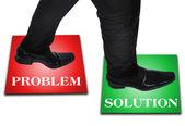 Business man step — Stock Photo