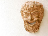 Ancient Greek theater mask — Stock Photo
