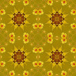 Floral pattern - painting texture. - Stock Photo