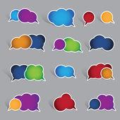 коллекция пустые речи пузырь этикетки — Cтоковый вектор