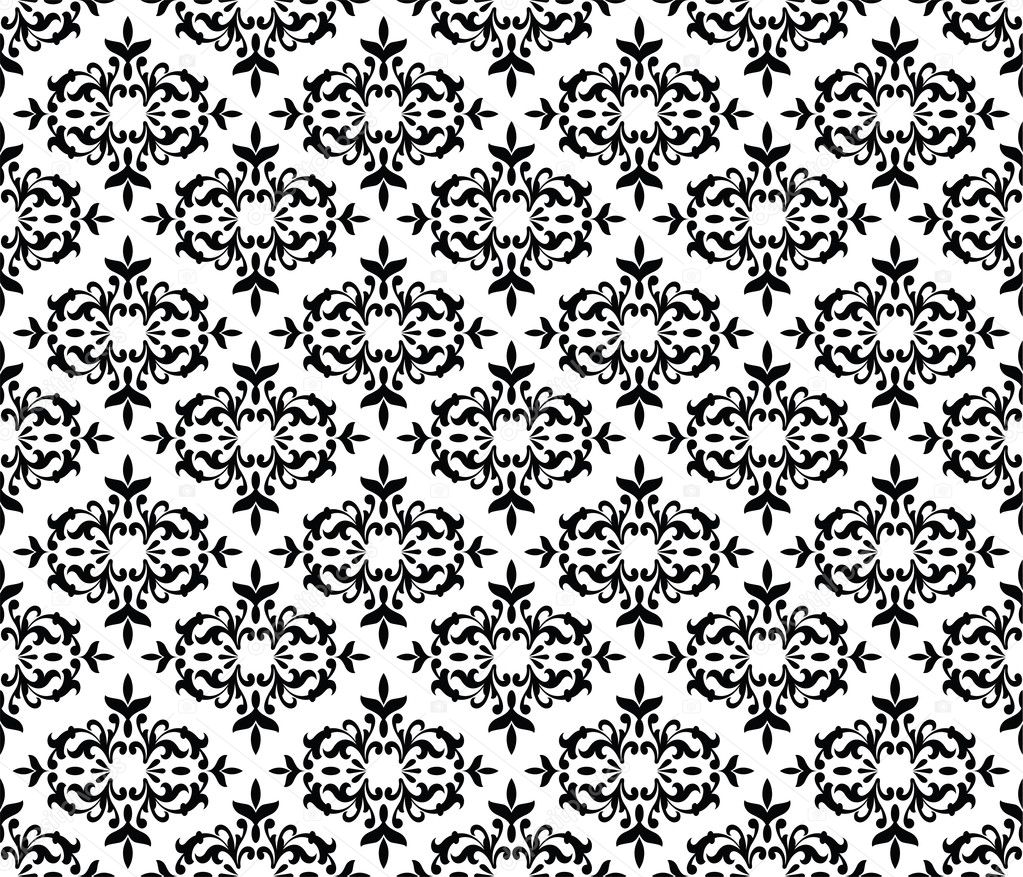 Black and white floral patterns backgrounds