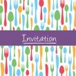 Royalty-Free Stock Vector Image: Stylish invitation card with cutlery background