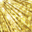 Golden disco lights and mosaic background — Stock Photo
