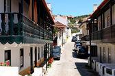 Narrow stony street in Рortugal,San Pedro de Moel, Europe — Stock Photo