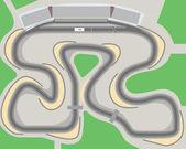Racing circuit — Stock Vector