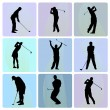 Stock Vector: Golfer