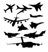 Aircraft set — Stock Vector