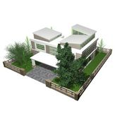 3d bungalow — Stockfoto