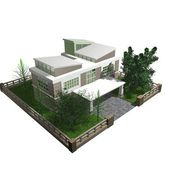 3d bungalow — Foto de Stock