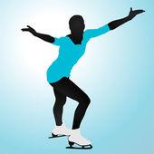 Is skater — Stockvektor