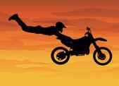 Motorcrossen — Stockvector