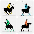 Polo players — Stock Vector