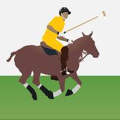 Polo player — Stock Vector