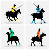 Polo players — Stock Vector