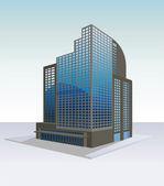 Immeuble de grande hauteur — Vecteur