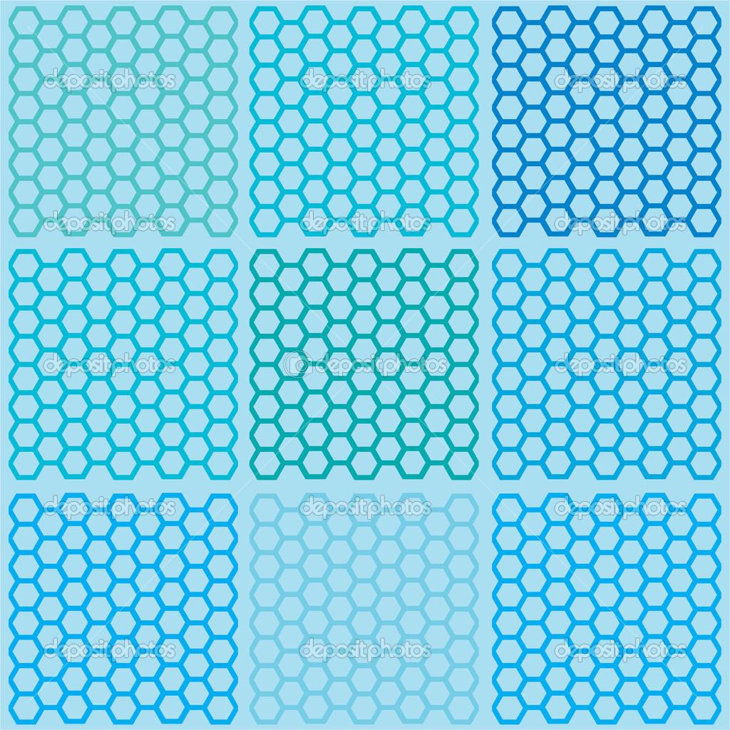 blue hexagonal pattern vector - photo #19