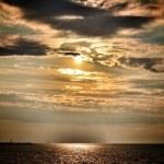 Sunset Baltic Sea — Stock Photo