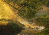 Złote promienie — Zdjęcie stockowe