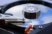 Cerca de un disco duro abierto — Foto de Stock