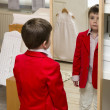Stock Photo: Boy dressing up